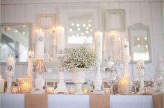 elegant burlap table decor #weddings #burlap #tablescape #table # ...