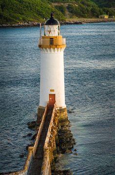 Eilean Bàn Lighthouse, Scotland by Doug Grannell #scotland #lighthouse, #lighthouses #beacon #seascape