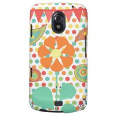 Flower Polka Dots Paisley Spring Whimsical Gifts Samsung Galaxy Nexus Cases