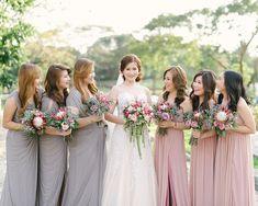 Blush and Gray Bridesmaid Dresses  | http://brideandbreakfast.ph/2015/05/12/blooming-and-beautiful/ | Photography: Toto Villaruel