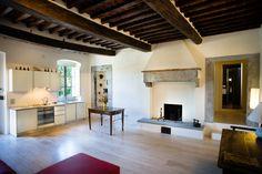 OPERASTUDIO - Project - Interior renovation - #Tuscany #villa #living room #kitchen