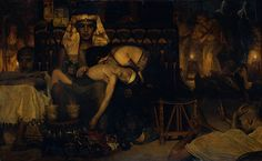 Sir Lawrence Alma-Tadema (1836-1912)  Death of the Pharaoh's Firstborn Son  Oil on canvas  1872  124.5 x 77 cm  Rijksmuseum (Amsterdam, Netherlands)