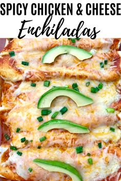 These Spicy Chicken and Cheese Enchiladas are made with a rotisserie chicken and filled with shredded cheese and spicy enchilada sauce! Chicken Cheese Enchiladas, Easy Chicken Dinner Recipes, Chicken Meals, Green Enchilada Sauce, Best Comfort Food, Comfort Foods, Rotisserie Chicken, International Recipes, Mexican Food Recipes