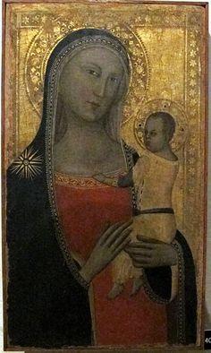 Allegretto Nuzi e bottega - Madonna col bambino - 1365 ca. - Pinacoteca Vaticana