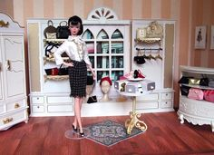 boutique diorama | then removed the red print curtain at the dressing room doorway and ...