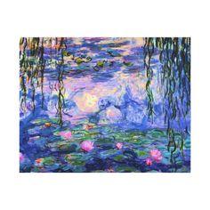Claude Monet, Canvas Wall Art, Canvas Prints, Art Prints, Diy Canvas, Chibi, Pond Painting, Water Lilies Painting, Monet Water Lilies