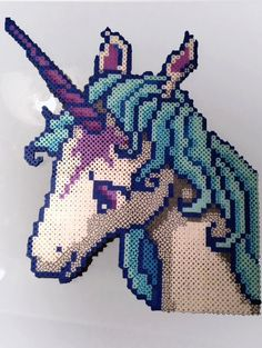 Last Unicorn Inspired Perler Art by KurisutaCreations on Etsy