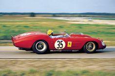 1962 Sebring Ricardo Rodriguez / Bob Grossman / Connell Ferrari Dino 246 S 35 of the North American Racing Team Retired no Oil Pressure, lap Sports Car Racing, Road Racing, Sport Cars, Race Cars, Racing Team, Auto Racing, Ferrari Racing, Ferrari Car, Le Mans