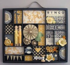 Another great 7 gypsies printers tray scrapbook display