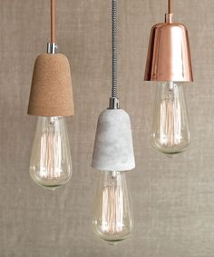 Beacon Lighting - Ando 1 light pendant with concrete lampholder and black/white herringbone cloth cabling, globe not included