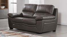 Taupe Top Grain Italian Leather Sofa Set 3Pcs EK045-TPE American Eagle Modern