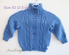 HAND KNITTING PATTERN- Toddler cardigan, Child sweater, Collar jersey for baby, Cabled child Sweater, Sweater with braid, Toddler knitwear Girls Knitted Dress, Girls Sweater Dress, Knit Baby Dress, Girls Sweaters, Ruffle Dress, Knitting For Kids, Baby Knitting Patterns, Baby Patterns, Hand Knitting