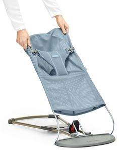 BabyBjorn bouncer a makeover with a new fabric seat. Comes in airy mesh or soft cotton in several colours.
