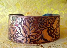 etched copper bracelet from Tantra jewelry