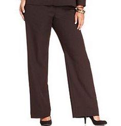 """STUDIO 1940 RIGHT FIT MELISSA WIDE LEG TROUSER - BROWN - PLUS SIZE 6 (44"""" WAIST) #Studio1940 #DressPants"""