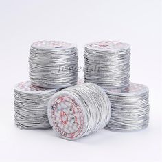 1mm in diameter, about 45yard/roll Elastic Wire Cord for Jewelry Making DIY Findings Supplies, Silver #Affiliate