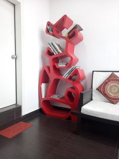 Free flowing book shelf by A.J Architects Bookshelves, Architects, Shelf, Contemporary, Interior Design, Free, Nest Design, Bookcases, Shelving