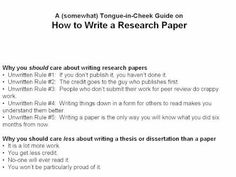 Writing A Research Paper In  Steps  How To Write A Research
