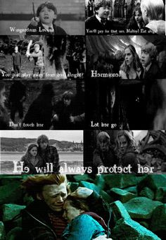 Ron and Hermione - He will always protect her