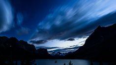 mountain and lake image
