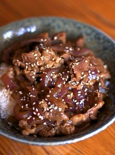 Japanese Beef and Rice (Gyudon)