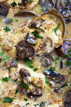 Slow Cooker Chicken Marsala | 21 Delicious Slow Cooker Dinners That Totally Saved Our Asses in 2015