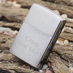 ZIPPO Lighters are the perfect gift for any man! This Brushed Satin Chrome ZIPPO Lighter is the perfect gift for any man for the man! Comes