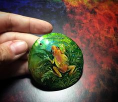 "127 Likes, 8 Comments - Sora_Yoru (@sora_yoru) on Instagram: ""#necklace #pendant #mother_of_pearl #handpainted #acrylic #frog #кулон #перламутр #лягуха…"""