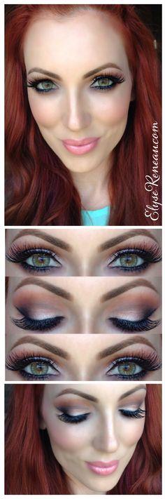 Desio Eyes Desert Dream contact lenses-makeup for green eyes- elysereneau.com