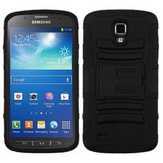 MYBAT Advanced Armor KickStand Case for Galaxy S4 Active - Black/Black