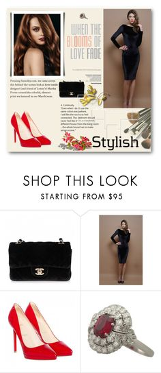 """#5"" by n-lejla ❤ liked on Polyvore featuring Chanel and Christian Louboutin"