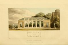 a Gothic conservatory, designed to be connected with the mansion ~ Rural residences: consisting of a series of designs for cottages, decorated cottages, small villas, and other ornamental buildings (1818)