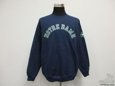 Vtg 90s Champion Notre Dame ND Fighting Irish Sweatshirt sz XL Extra Large NCAA #Champion #NotreDameFightingIrish