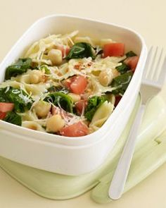 Delicious Brown Bag Lunches Chickpea and Spinach Pasta. Tried 5/14/12. Not gonna lie, I was a little apprehensive about the frozen spinach, but the flavors come together so nicely. Will definitely make again.           (adsbygoogle = window.adsbygoogle    []).push({});    This Picture  by  tumblertae   The Recipe can be found  HERE    I do not take credit for this salad recipe or images in this post. What I do accept and recognize is that I found something and brought it..