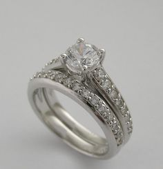 Unique Engagement Wedding Ring Sets, Side View