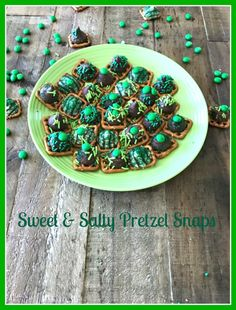 Sweet & Salty St. Patrick's Day Pretzel Snaps - Only 4 Ingredients!