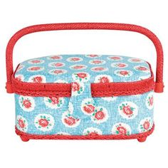 Cath Kidston - Lattice Rose Small Oval Sewing Basket