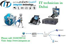 Wifi router pabx telephone cabling networking setup Dubai