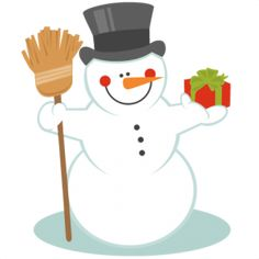 Snowman With Broom: Miss Kate Cuttables SVG scrapbook title winter svg cut file snowflake svg cut files for cricut cute svgs free