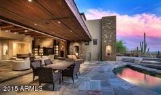 Indoor/outdoor patio at 41188 N 102ND Place, Scottsdale, AZ, 85262 - how gorgeous is this view!?!