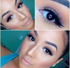 love this classy glam eye look for day to night (eyebrows are too drawn In for my taste - I would blend them in a bit)