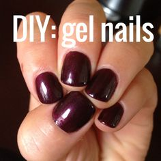 DIY: CND shellac gel nail tutorial! a great how-to