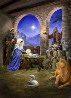 """Nativity Scene  """"…and they shall call His name Immanuel,"""" which is translated, """"God with us."""" Matthew 1:23"""