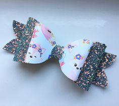 Fox hair bow. Woodland Hair bows. Hair bow. UK hair bow. Gifts. Hair Accessories. Bows. Glitter Bows by BowsandKeepsakes on Etsy