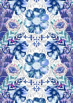 Loitsu, blue, design by Matleena Issakainen
