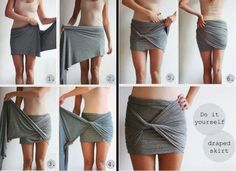 Make a skirt with a shirt ;) #DIY#tutorials#fashion