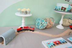 Festa de aniversário: Comboios!