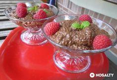 Csokoládés chia mag Chia Puding, Creme Brulee, Naan, Chia Seeds, Panna Cotta, Pudding, Sweet, Recipes, Food