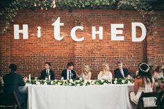 wedding reception ideas - photo by Ashley Kickliter… Wedding Signage, Wedding Reception, Our Wedding, Dream Wedding, Wedding Letters, Wedding Wishes, Reception Ideas, Wedding Bells, Wedding Flowers