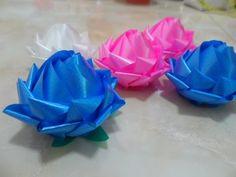 พับเหรียญโปรยทาน ดอกบัวเล็ก (Lotus Flower) - YouTube